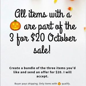 Other - 🎃 October sale 🎃 3/$20